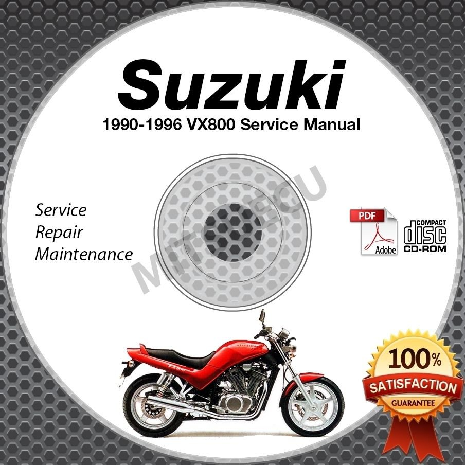 1990-1996 Suzuki VX800 Service Manual CD ROM Repair shop 1991 1992 1993 1994 95