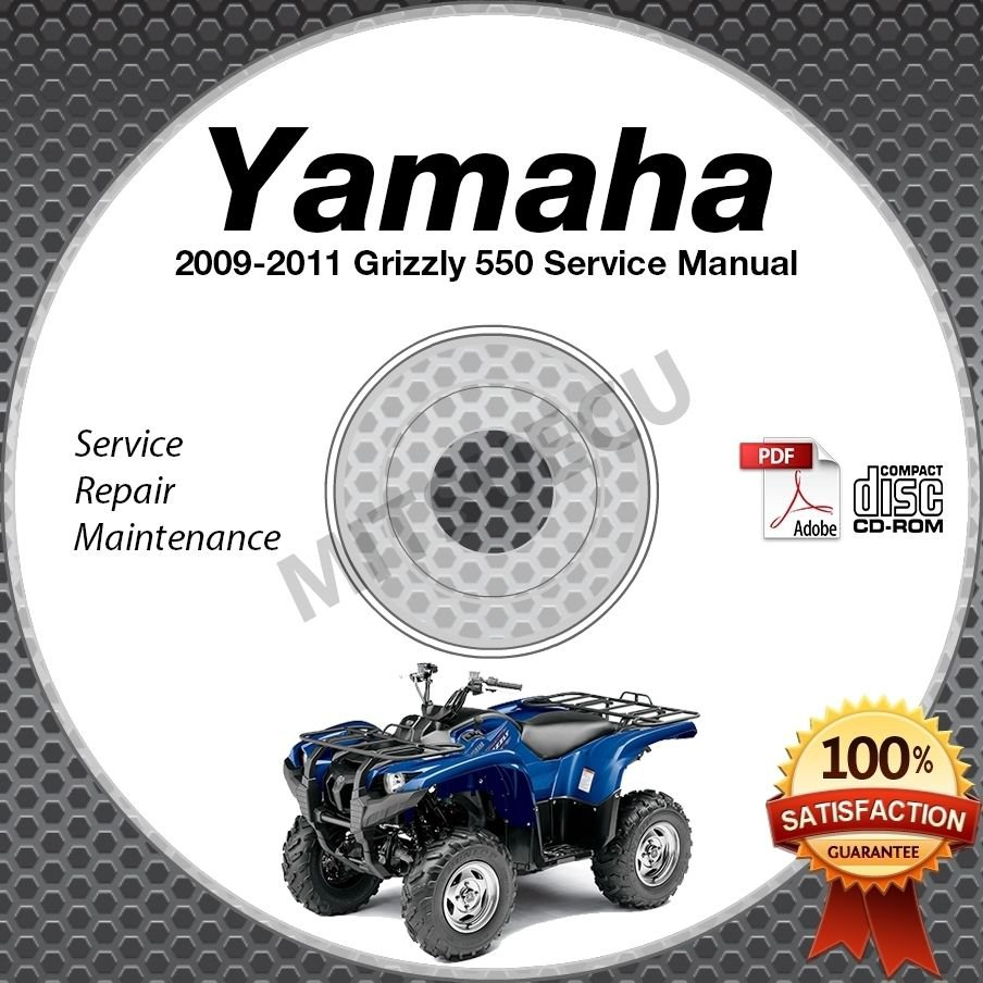 2009 2010 2011 Yamaha Grizzly 550 Service Manual CD ROM repair shop YFM550