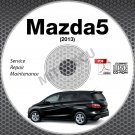 2013 Mazda5 Service Manual CD ROM workshop repair 2.5L