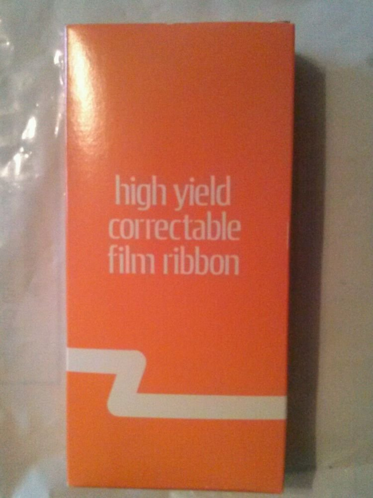High Yield Correctable Film Ribbon Black- Typewriter