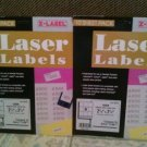 "Laser Labels Diskette 2 3/4""x 2 3/4"" 180 Labels Compare to Avery 5196"