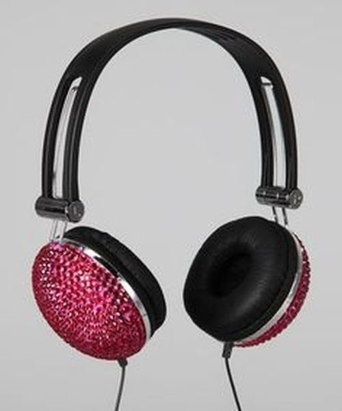 Tri-Coastal Pink Bling Headphones NIP