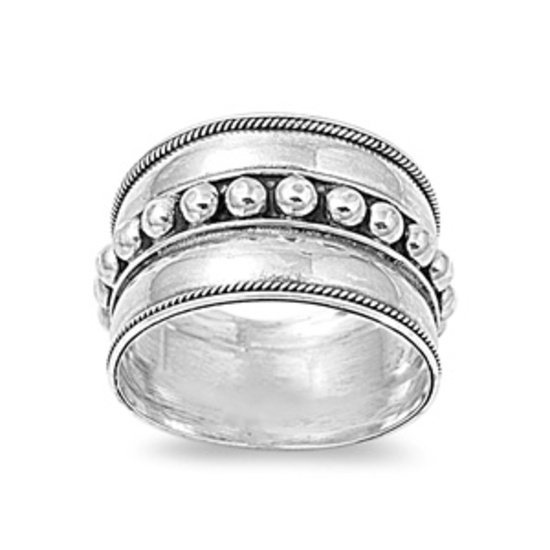 Silver Ring - Bali Design 925 Solid Sterling Silver Band