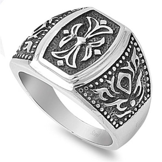 Mens Biker Jewelry Stainless Steel Ring