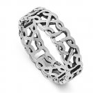 925 Solid Sterling Silver Ring - Celtic Band 6 mm (0.26 inch)