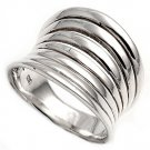 925 Solid Sterling Silver Ring Band 18mm