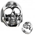 925 Solid Sterling MEN'S OPEN SKULL RING 925 Solid Sterling Band Sizes 9-14 Band