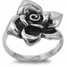 925 Solid Sterling Silver Ring - Rose Band