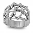 925 Solid Sterling Silver Ring Band 16 mm