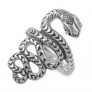 925 Solid Sterling Silver Ring - Snake Band