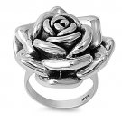 925 Solid Sterling Silver Ring - Rose Band 29mm