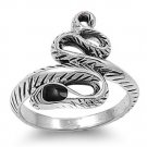 925 Solid Sterling Silver Ring - Snake Band 18mm