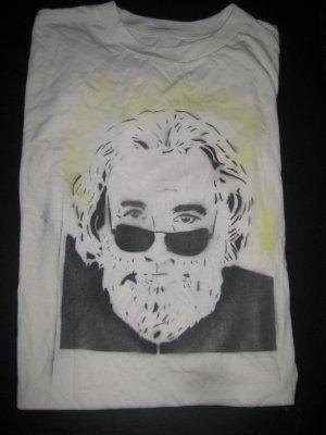 Jerry Garcia Stencil/Airbrush Custom Bamboo Shirt *XL