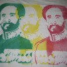 Haile Selassie Bamboo T-Shirt - Rastafari *XL*Red Gold Green