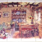 """Antique Kitchen Ceramic Tile Mural Back Splash 12pcs 4.25"""" Kiln Fired BISCUIT"""