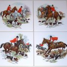 "Fox Hunt Ceramic Tile Accents Horse Jumper 4 of 6"" x 6"" Kiln Fired Decor"