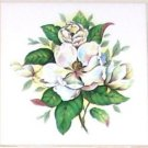CLOSEOUT Magnolia Flower Ceramic Tile Accents 4.25 Kiln Fired Back Splash Tiles