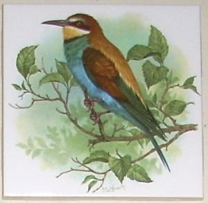 "Bird Ceramic Tile 4.25"" Kiln Fired Back Splash Decor"