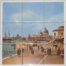"Italy Venice  9pc 4.25"" x 4.25"" Ceramic Tile Mural Back Splash Decor #3"