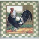 "Rooster Ceramic Tile Chicken Champion 6""x 6"" Kiln Fired Decor Back Splash"
