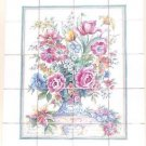"Closeout Botanical Floral Ceramic Tile Mural 20pcs 4.25"" Kiln Fired Back Splash Decor"