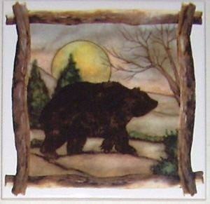 "Bear Beige Ceramic Tile Kiln Fired Back Splash Decor 6""x 6"" Brown"