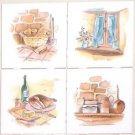 "The Forge Ceramic Tile Accents back splash 4 pcs of 4.25"" Kiln Fired Decor"