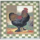 "Rooster Ceramic Tile Chicken Talbot 6""x 6"" Kiln Fired Decor Back Splash"