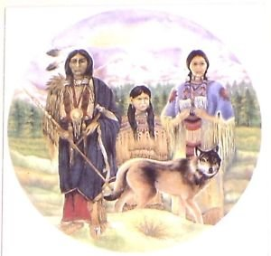 """Family with Wolf 8"""" x 8"""" Ceramic Tile Kiln Fired Back Splash Accent Decor"""