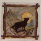 "Wolf or Coyote  Beige Ceramic Tile Kiln Fired Back Splash Decor 6""x 6"" Brown"