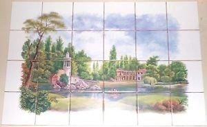 "Closeout New Orleans Landscape Kiln Fired Ceramic Tile Mural  Back splash 24pcs 4.25"""
