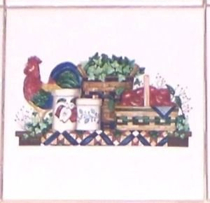"""Rooster Americana Ceramic Wall Tiles 4.25"""" Kiln Fired Decor Sale"""