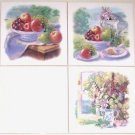 "Morning Window 3 of 6"" Mural Ceramic Tile Accents Kiln Fired Apples Back Splash"