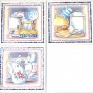 "Closeout Old Fashion Teapot Kitchen Ceramic Tile Mural set 3 of Accents 6""x6"" Kiln Fired"