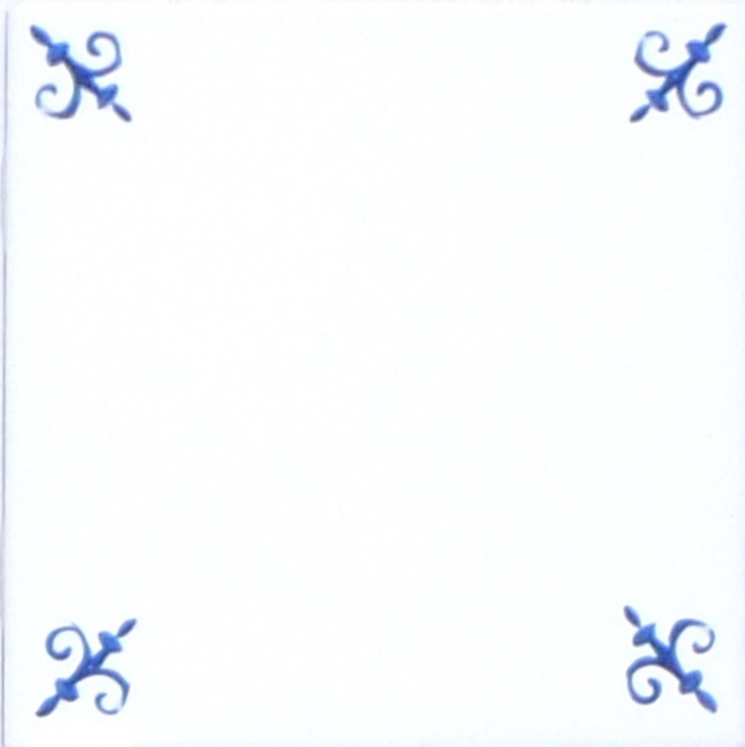 "Blue Ox Tail Ceramic Tile Accent to Kiln Fired Back Splash Delft 4.25"" #2"
