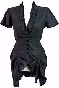 NEW HITCHED VINTAGE BLACK DRESS-10  victorian war bride steampunk edwardian NW