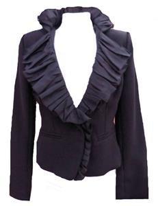 NEW black blazer fitted high neck riding jacket-12 victorian steampunk goth