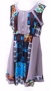 VINTAGE patchwork dress jacket -20 plus retro boho party wedding 2 piece suit