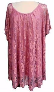 NEW VINTAGE SMOCK LACE TUNIC DRESS-22- 24 plus victorian party evening boho  NWT
