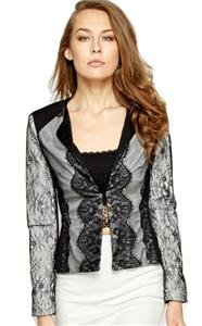 NEW eyelash lace blazer fitted jacket-14 victorian steampunk goth evening party