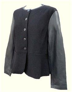 NEW black blazer riding jacket-14 16 18 100% WOOL victorian steampunk goth plus