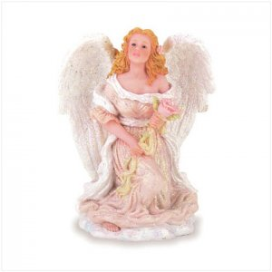 ANGEL AND ROSE FIGURINE  Item #28087