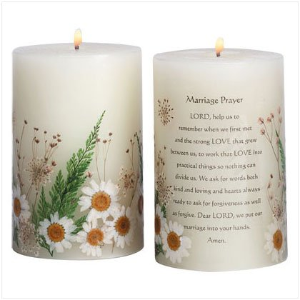 MARRIAGE PRAYER SCENTED CANDLE  Item #33080