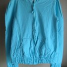 Girls Old Navy Large 10 12 Hoodie Zip Jacket  Hand Pockets Gathered Elasticized