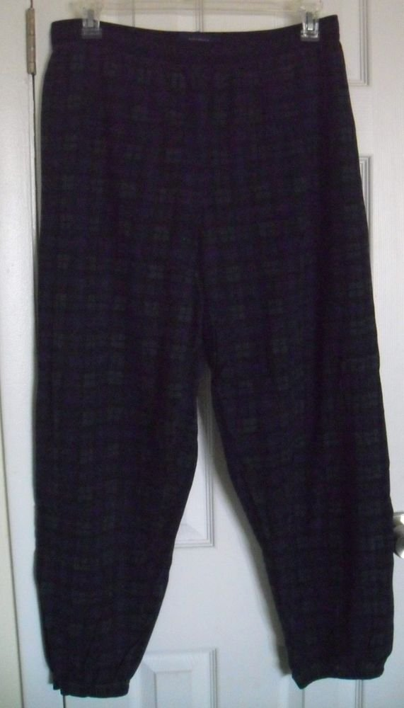 Nautica Mens Sleepwear Lounging Pants Checker Pattern size Large
