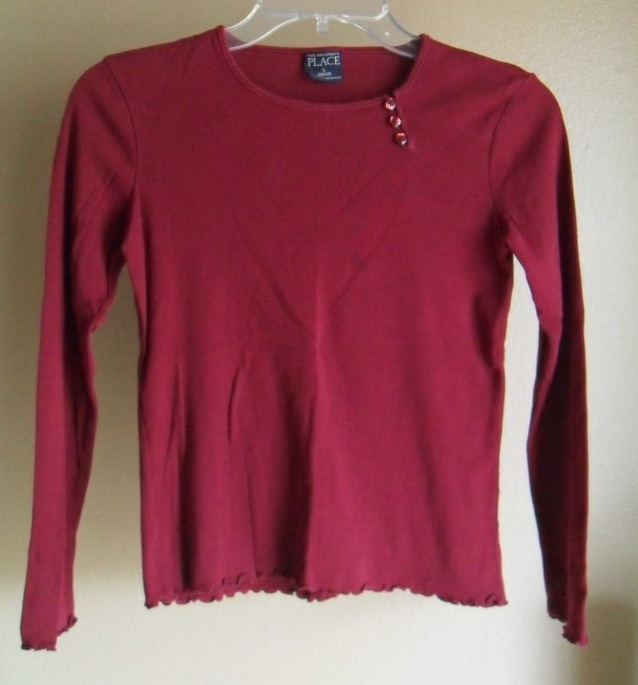 The Children's Place Maroon Knit Top Large 10/12