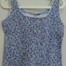 Energie Juniors L Large Flower Purple Blue White Lace Inset Sleeveless Tank Top