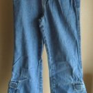 Girls Arizona Jeans Co.  Size 10 Regular Blue Denim 6 Pocket  w/ 2 Cargo Pockets