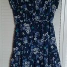 Gap Dress Viscose & Cotton Hidden Snap Top Half w/ Cinch Draw Waist Tie Size 6