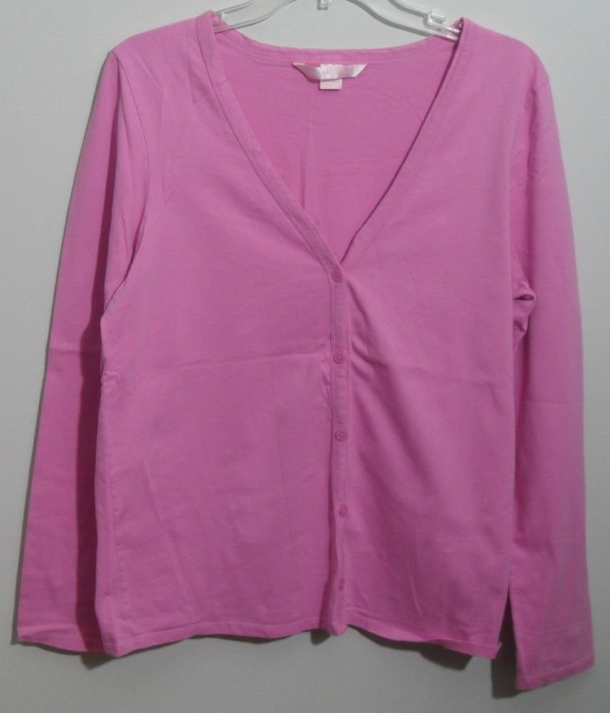 Victoria's Secret Pink V-neck Cardigan & Cami Tank Top Adjustable Straps Set L